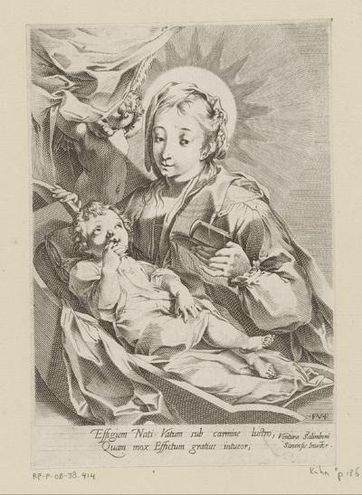 Maria met Kind in een kribbe