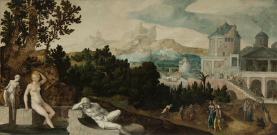 Image from object titled Landscape with Bathsheba
