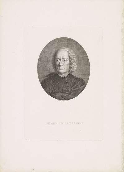 Portret van Domenico Lazzarini; Portretten van beroemde Italianen in ovalen