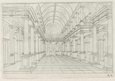 Interieur van een kerk; Architectura