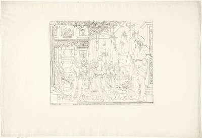 Martelaarschap van de heilige Christoffel; De fresco's van Andrea Mantegna in de Chiesa degli Eremitani in Padua