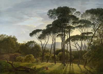 Italian Landscape with Umbrella Pines | Voogd, Hendrik
