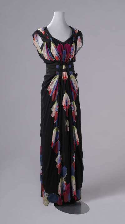 Image from object titled Evening Dress with a Mirrored Floral Pattern