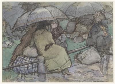 Image from object titled Vluchtelingen uit België te Roosendaal, 1914