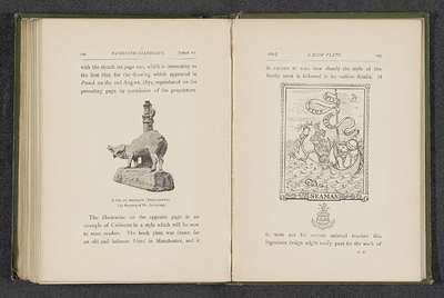 Fotoreproductie van een sculptuur van een varken door Randolph Caldecott; A Pig of Brittany (Terra-Cotta)