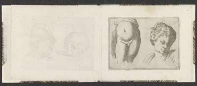 Naakt onderlichaam en hoofd van een kind; Tekenvoorbeelden; Mitelli intaglio