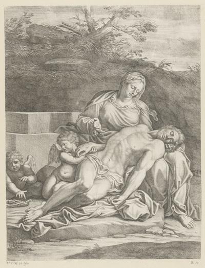 Bewening van Maria en twee engelen