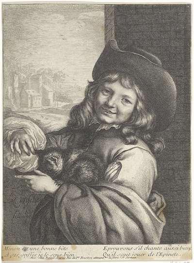 Lachende jongen met kat
