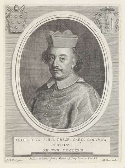 Portret van kardinaal Federico Baldeschi Colonna; Effigies Nomina et Cognomina S.D.N. Alexandri Papae VII et RR. DD. SRE. Cardd (...).