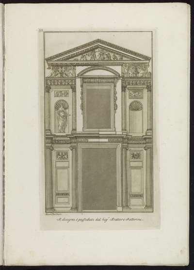 Ontwerp voor een portaal; Raccolta di dissegni originali di Mauro Tesi