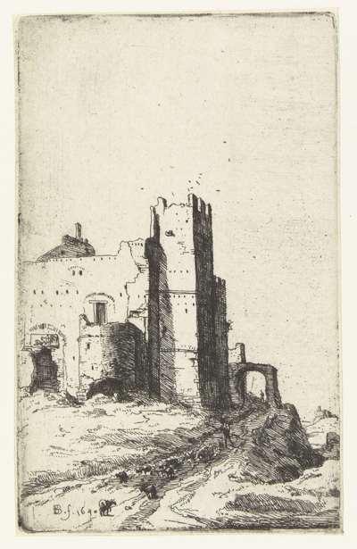 Toren van Leoni nabij Frascati; Romeinse ruïnes; Verscheijden Vervallen gebouwe Soo binnen als buyten Romen