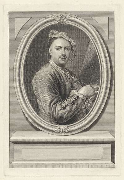 Portret van schilder Jacques Ignatius de Roore