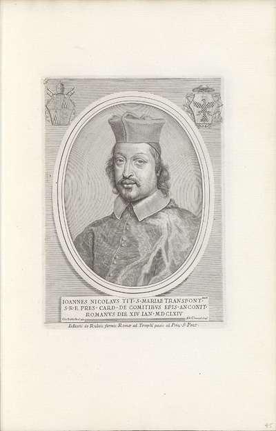 Portret van kardinaal Giannicolò Conti; Effigies Nomina et Cognomina S.D.N. Alexandri Papae VII et RR. DD. SRE. Cardd (...).
