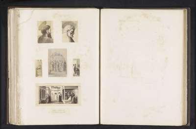 Zes fotoreproducties van een publicatie door de Arundel Society met schilderijen door Masaccio