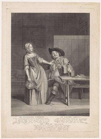 Koetsier in een herberg; De Engelsche Koetzier / Le Cocher Anglois / The English Coachman