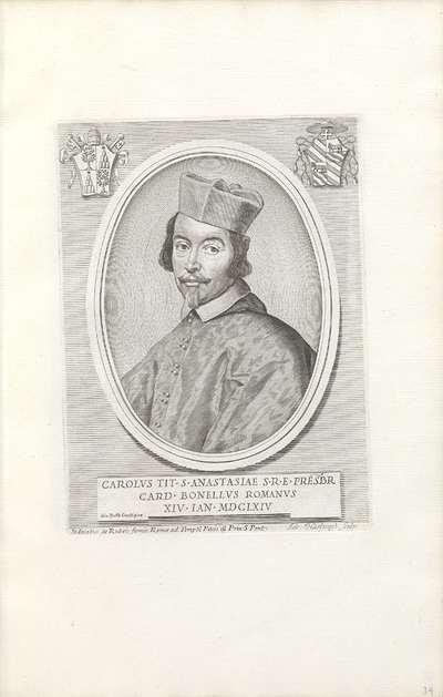 Portret van kardinaal Carlo Bonelli; Effigies Nomina et Cognomina S.D.N. Alexandri Papae VII et RR. DD. SRE. Cardd (...).