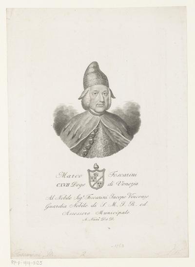 Portret van doge Marco Foscarini; Marco Foscarini CXVII Doge di Venezia