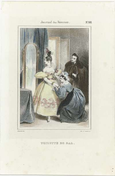 Journal des Femmes, 1832-1837, No. 88 : Toilette de Bal