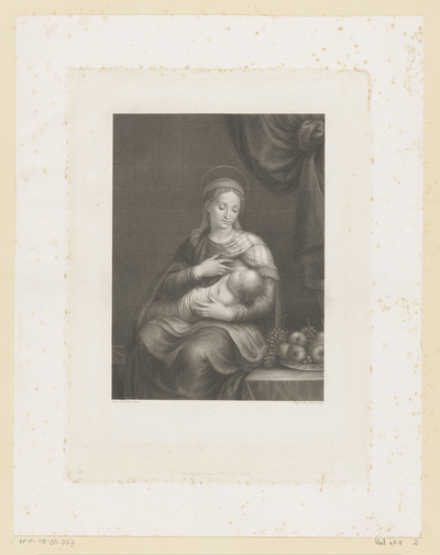 Maria zoogt het Christuskind; La Madonna del Latte