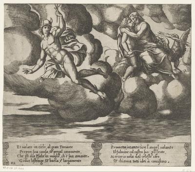 Amor smeekt Jupiter; Verhaal van Amor en Psyche