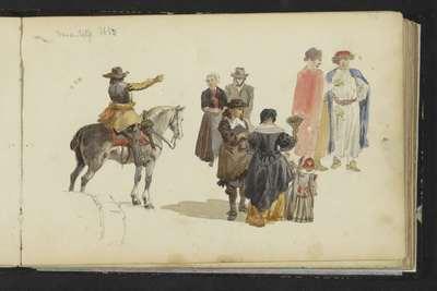 Figuren in zeventiende-eeuwse kleding