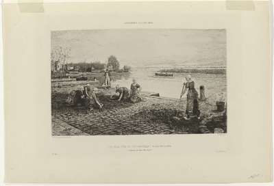 Gorsvenor Gallery, 1882 : The weeders of the pavement, Nord Holland (...)