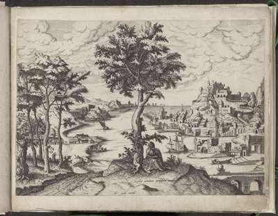Landschap met de profeet Jona onder de wonderboom; Landschappen met Bijbelse figuren
