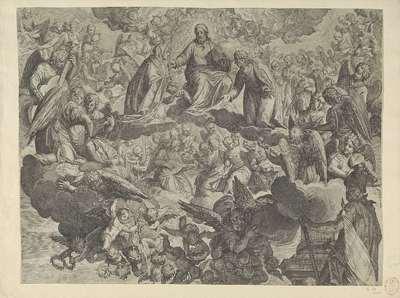 Het martelaarschap van de heilige Justina van Padua (bovenste helft)