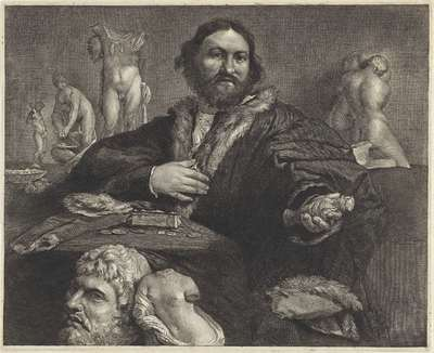 Image from object titled Portrait of the collector Andrea Odoni