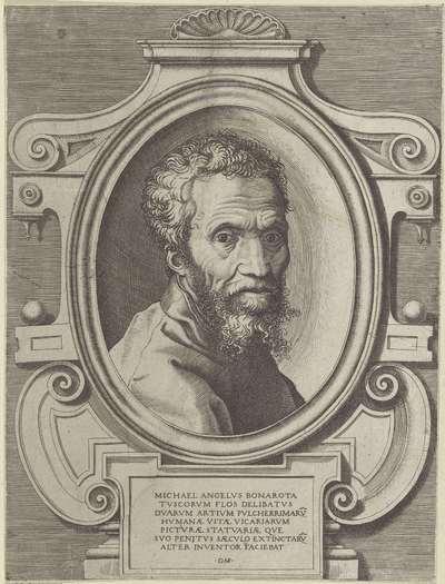Portret van kunstenaar Michelangelo