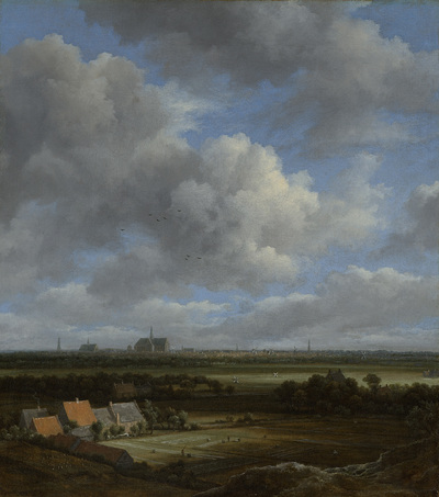 Image from object titled View of Haarlem from the Northwest, with the Bleaching Fields in the Foreground