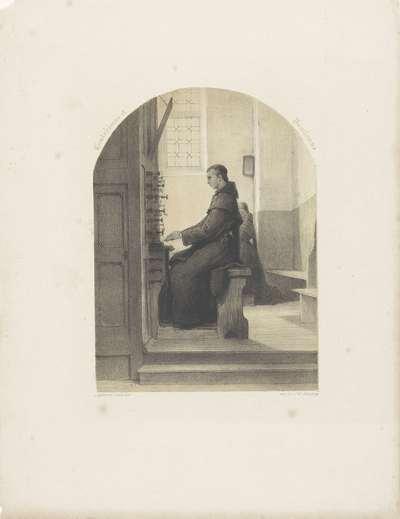 Monnik aan het orgel