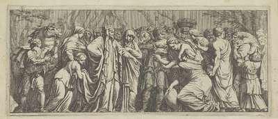 Smekelingen brengen geschenken bij Niobe; Het leven van Niobe (kopieën)