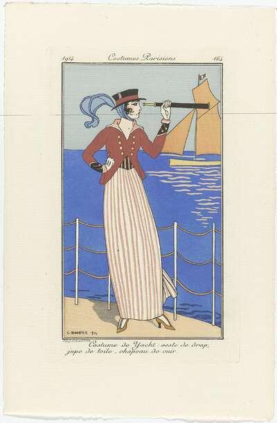Journal des Dames et des Modes, Costumes Parisiens, 1914, No. 164 : Costume de Yacht (...)