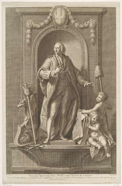 Portret van William Beckford, burgemeester van Londen