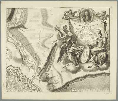 Grote kaart van het beleg van Namen (blad nr. 2), 1695; Plan de la Ville et du Château de Namur, dans l'état qu'etoit cette Place lors qu'elle fut assiegée et reprise en 1695 par les Armes des Alliez, sous la très sage et...