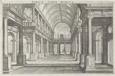 Interieur van een kerk; Ionica Super Dorica; Architectura
