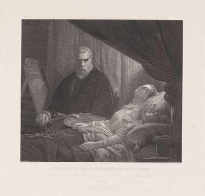 Tintoretto aan het sterfbed van zijn dochter. L. Cogniet p.