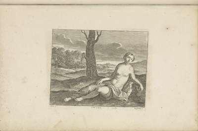 Liggende vrouw in een landschap