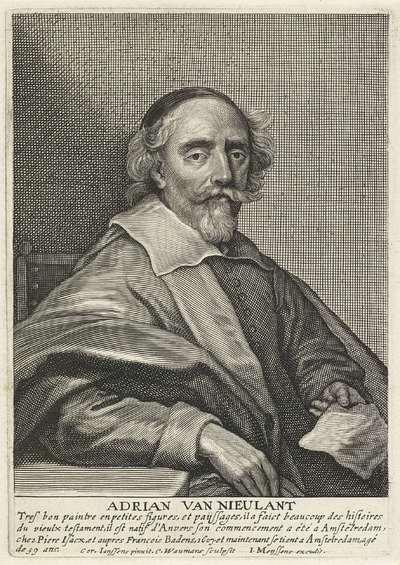 Portret van de schilder Adriaen van Nieulandt (I)