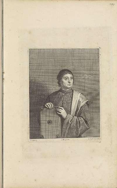 Portret van een onbekende man met boek