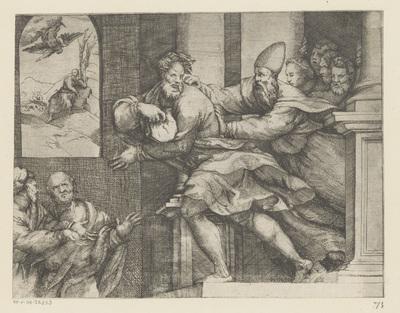 Joachim wordt de tempel uitgezet