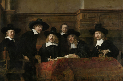Image from object titled The Sampling Officials of the Amsterdam Drapers' Guild, known as 'The Syndics'
