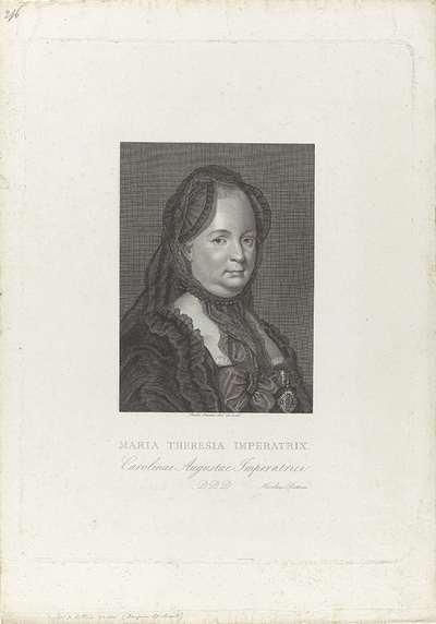 Portret van Maria Theresia van Oostenrijk