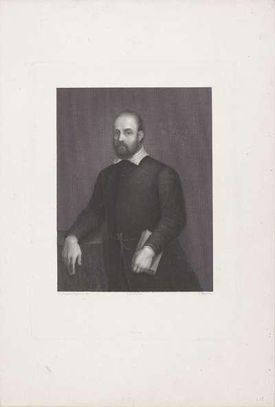 Portret van dichter en schilder Giovanni Battista Maganza II