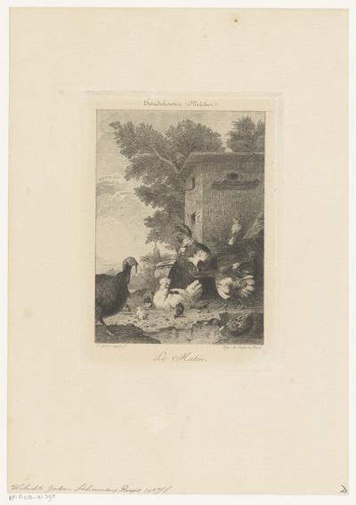 Pluimvee bij een kippenhok; Le Matin