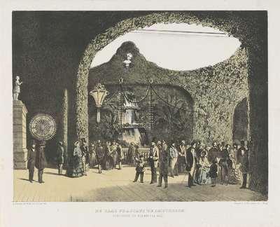 De zaal Frascati te Amsterdam. Gedurende de kermis van 1855