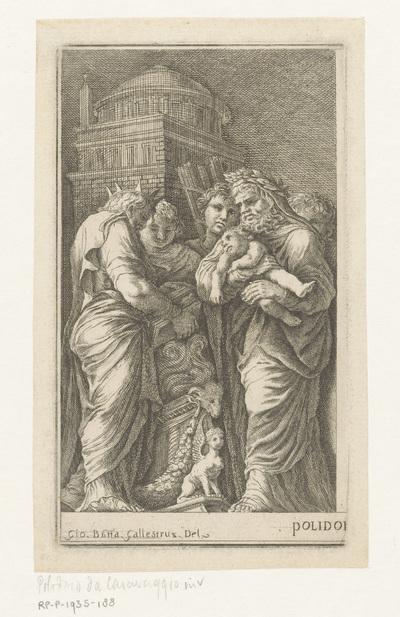 Figuren rondom een altaar