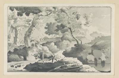 Boslandschap met dier