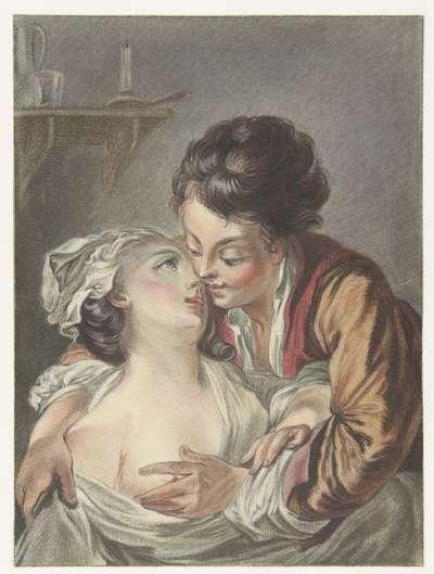 Liefkozend paar; Le Rendez-Vous